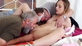 Teen Natalia Pearl Lets Old Men Pleasure Her