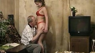 Grandaughter seduces Grandfather into fuck her