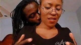 Hairy Ebony Mom Gets What She Wants