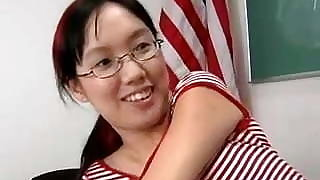 Nerdy Asian Lystra Is Fucked By Teacher