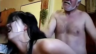 Granddaughter gets forced by her grandpa