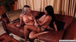 Felonious babe teaches straight latina friend how to eat pussy