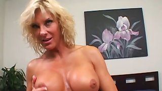 Cowgirl getting a facial after her love hole gets filled with regard to a cock