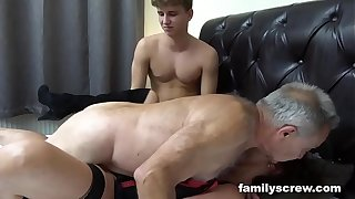 Fucked up Father with the addition of Son Pounding an Old Bungle