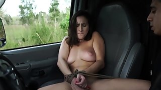French maid bondage plus huge dildo domination This avant-garde