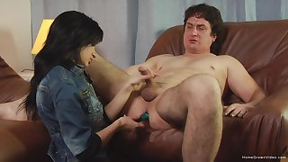 Step dad plays filial of his slutty step lass