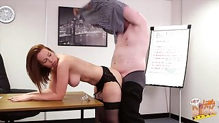 Lovely Candi Blows sucks absent her big gun coupled with gets fucked from behind