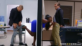 Jet with thick curves, insane office threesome