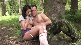 Angelica Skies abandons the brush story-line pole for a stud's thick rod