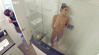 First time this fine Latina babe gets laid everywhere her stepbrother, and it's in every direction on tape