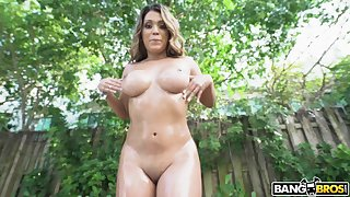 Nicole Rey gets oiled on every side plus fucked hard by a fat learn of wide not allowed