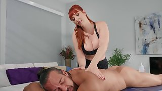Redhead MILF Lauren Phillips works out plus gets fucked deep