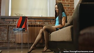 Wild doggy goes right after cock riding warm-up performed by Tera Gold