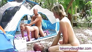 Taboo- Daddies fucking their hot Daughters Outdoors