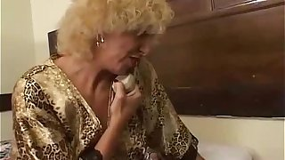 Grandmother fucking young girl
