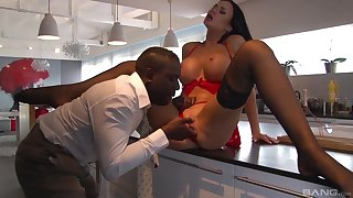 MILF shakes entire BBC in both her the money holes