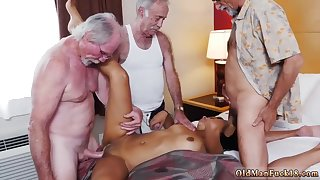 Young Dour Latina In Old Gangbang Foursome Orgy - 18 Years Old And Nikki Kay