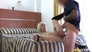Blonde Exhibitionist Fucked by Cop