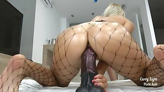 Tiny Teen pounded with massive  cock - creampie - Solo CarryLight