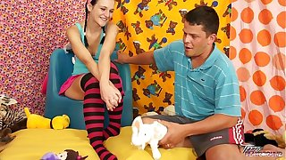 Teenyplayground Big lesson of cum swallowing for cute babysitter